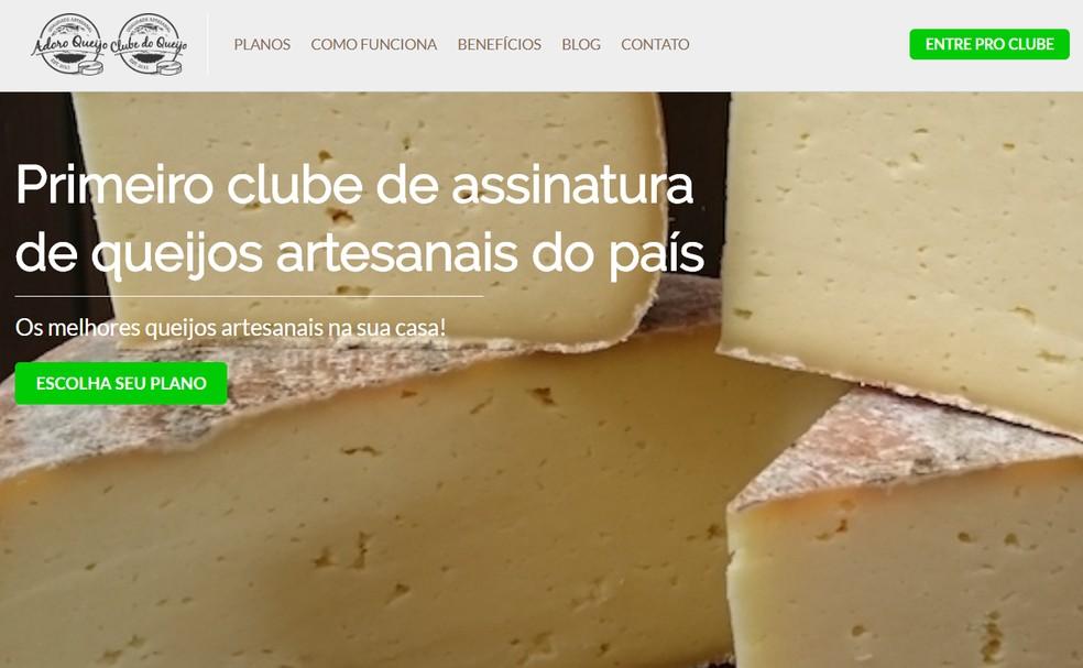 Clube do Queijo envia queijos artesanais aos associados — Foto: Reprodução/Clube do Queijo