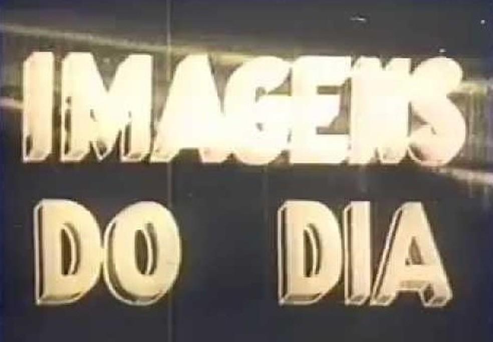 'Imagens do dia', primeiro telejornal brasileiro — Foto: Reprodução