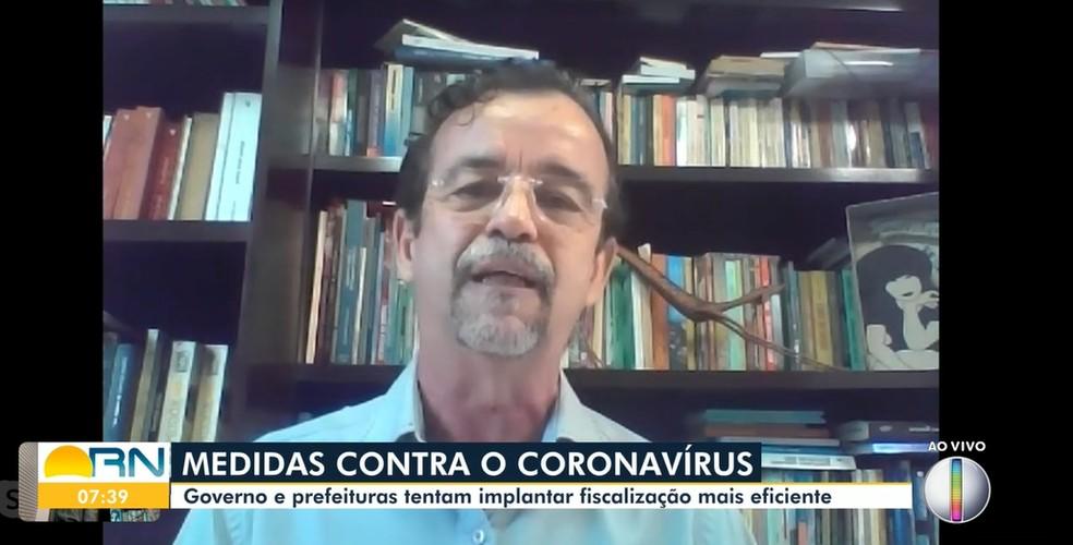 Secretário Fernando Mineiro em entrevista ao Bom Dia RN, da Inter TV Cabugi — Foto: Reprodução