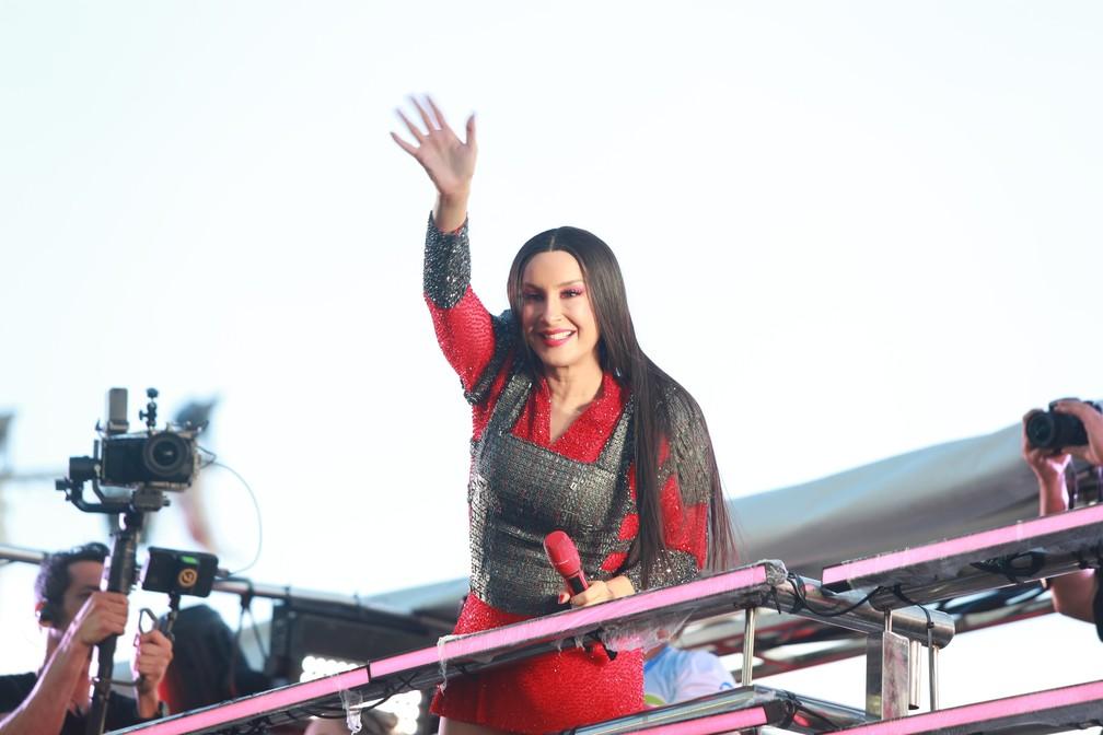 Claudia Leitte durante carnaval 2020 em Salvador — Foto: Mauro Zaniboni /Ag Haack