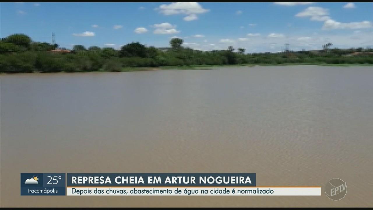 Represa de Artur Nogueira volta a encher após dias de chuva