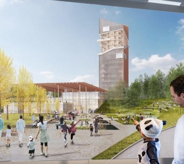 A empresa de arquitetura Sasaki Designs teve o projeto vencedor (Foto: China Discovery/ Reprodução)