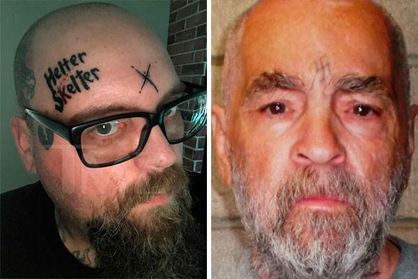 Patrick Boos e Charles Manson (Foto: Reprodução e Getty)