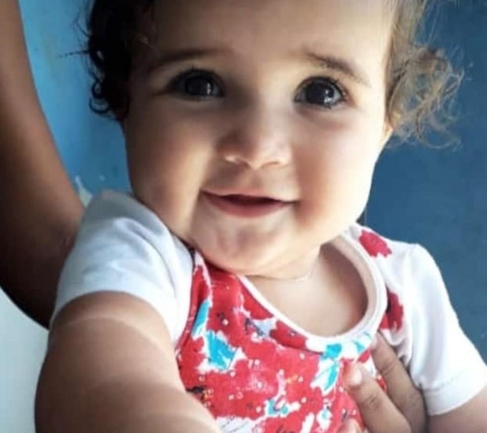 Laura Sophia, de 1 ano, morreu afogada em um tanque, em Jataúba — Foto: Ney Lima/Divulgação