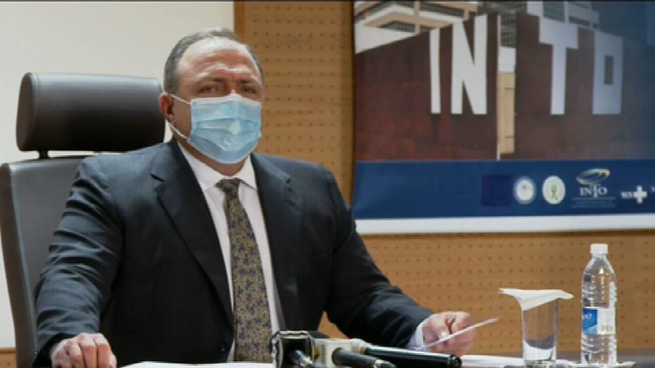 Pazuello afirma que vacinas começam a ser distribuídas na manhã desta segunda (18)