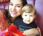 Fernanda Machado com o filho, Lucca | Reprodução