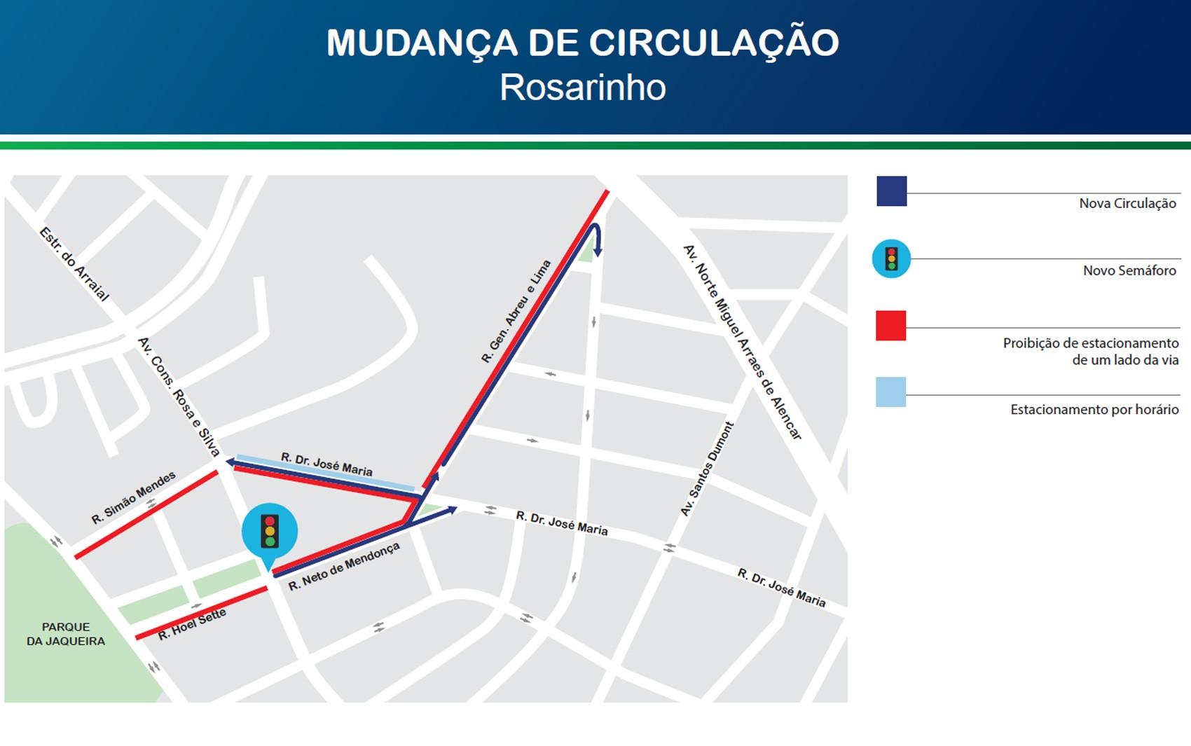 Trânsito tem mudanças em ruas do Rosarinho, na Zona Norte do Recife