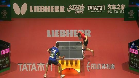 Ma Long vence Hugo Calderano e avança às quartas do Mundial de tênis de mesa em Budapeste