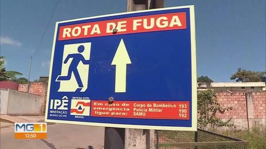 Moradores de Igarapé participaram de treinamento para eventual rompimento de barragem