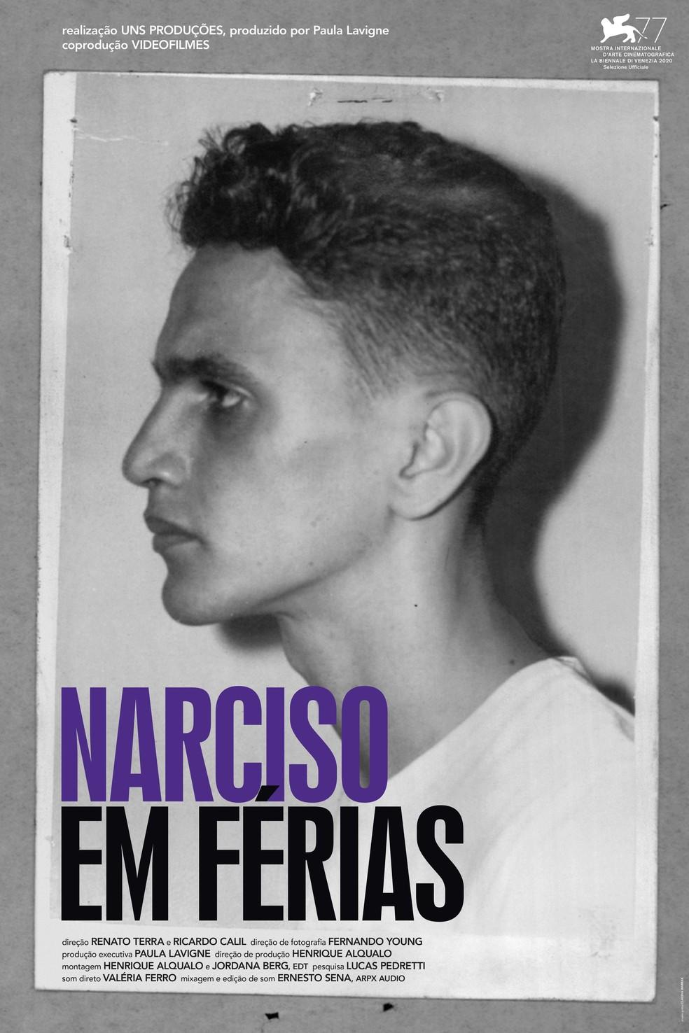 Cartaz do documentário'Narciso em férias', disponível na plataforma Globoplay — Foto: Divulgação