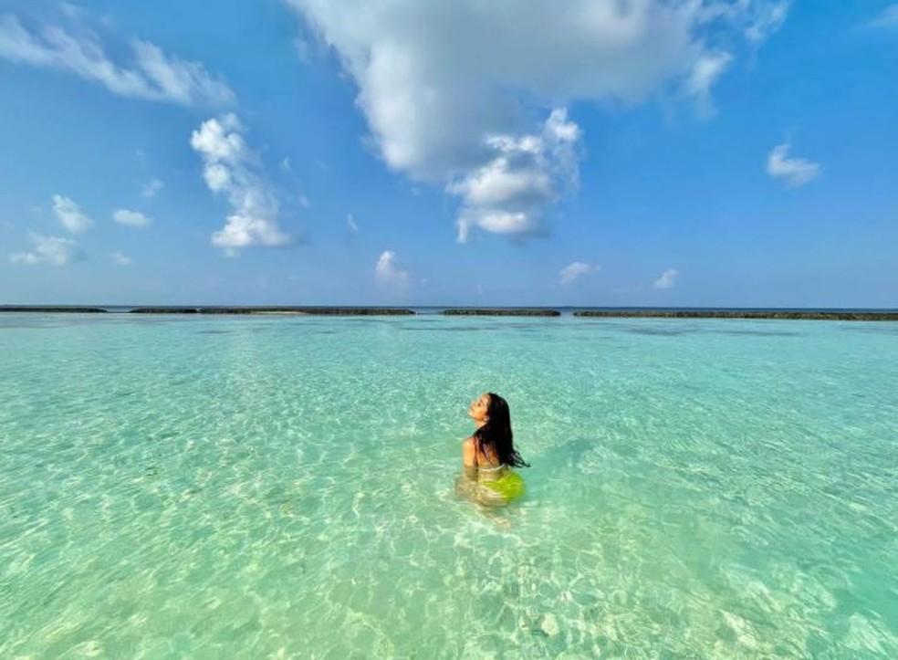 Atriz indiana de Bollywood publica foto de viagem às Maldivas — Foto: Reprodução/Instagram