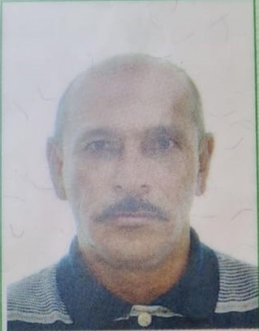 Jessé Albino Firmino, de 50 anos, foi assassinado a tiros em Cariacica — Foto: Reprodução/TV Gazeta