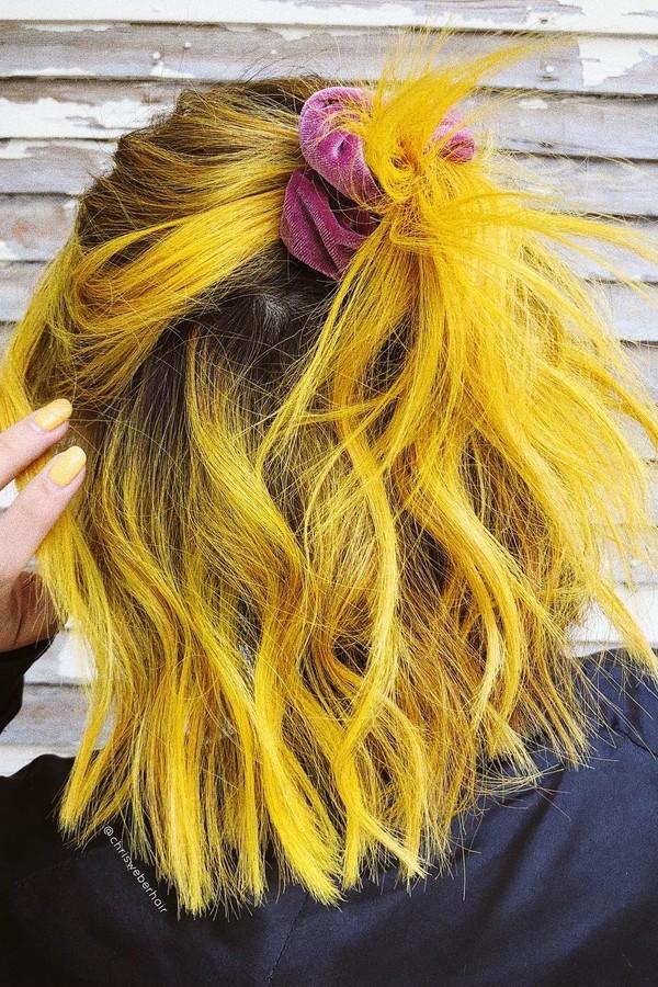 Cabelo amarelo mostarda (Foto: Reprodução Instagram )