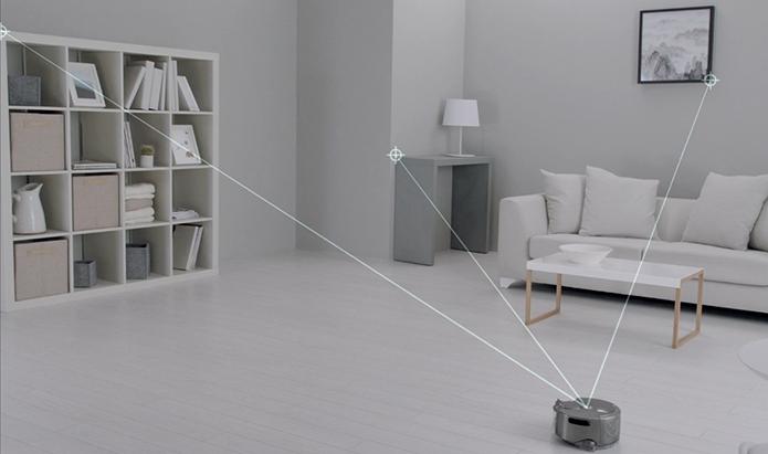 Dyson 360 Eye rastreia móveis para se localizar no espaço (Foto: Reprodução/Dyson)