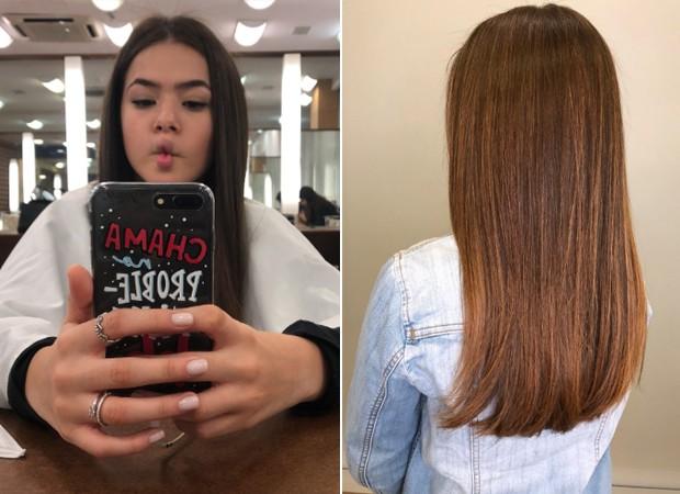 Antes e depois: Maisa Silva (Foto: Reprodução/Twitter)
