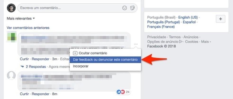 Fake news podem ser denunciadas por qualquer usuário — Foto: Reprodução/Marvin Costa