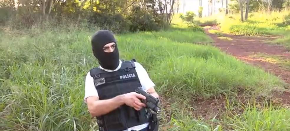 No dia 29 de junho, um policial civil trocou tiros com três homens — Foto: Reprodução/RPC