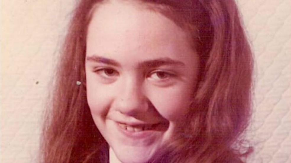 Marie McCready aos 13 anos — Foto: Arquivo pessoal/BBC