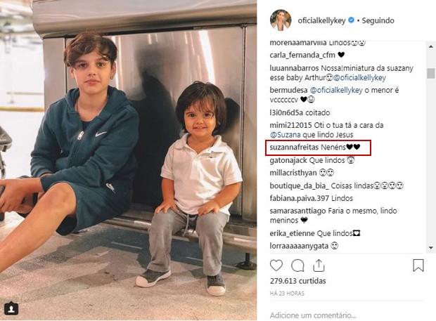 Jaime Vitor e Arthur, filhos de Kelly Key (Foto: Reprodução / Instagram)