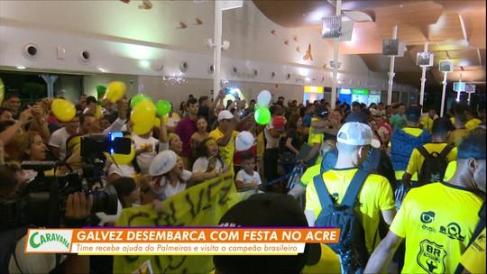 Delegação do Galvez visita arena e conhece a Academia de Futebol do Palmeiras