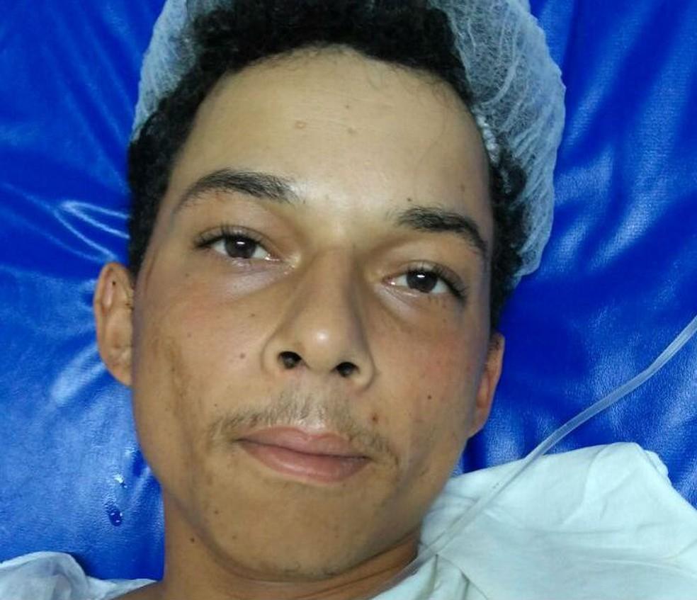 Suspeito foi preso após dar entrada em hospital ferido pelo pai da criança na BA (Foto: Divulgação/Polícia Civil)