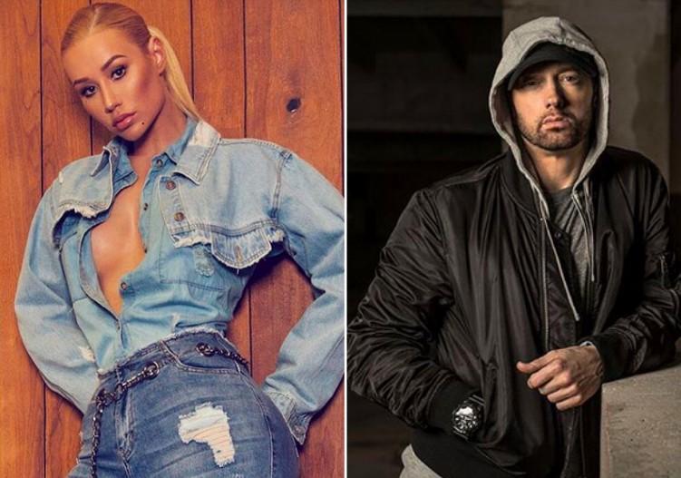 A cantora Iggy Azalea e o rapper Eminem (Foto: Instagram)