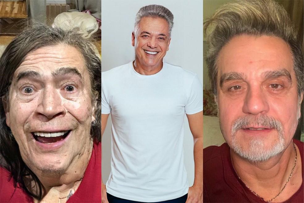 Whindersson Nunes, Wesley Safadão e Luan Santana entram na onda do aplicativo que envelhece rostos — Foto: Reprodução/Instagram