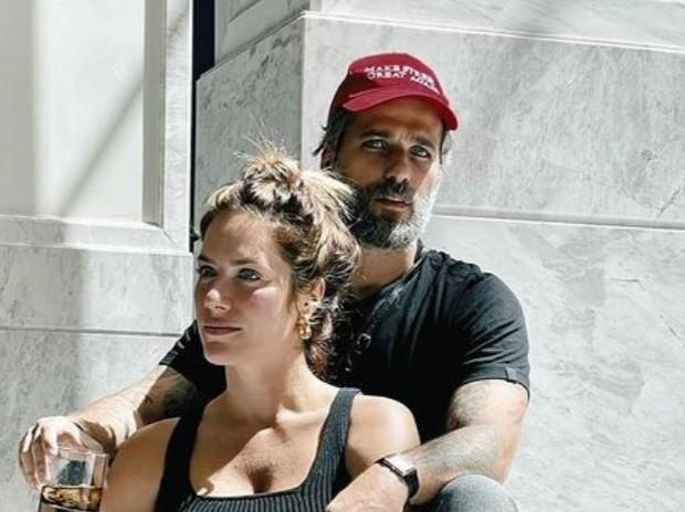 Bruno Gagliasso e Giovanna Ewbank em Lisboa, Portugal (Foto: Reprodução)