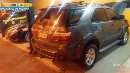 PRF e PM apreendem caminhonete clonada com maconha e motorista foge após troca de tiros no Norte de SC