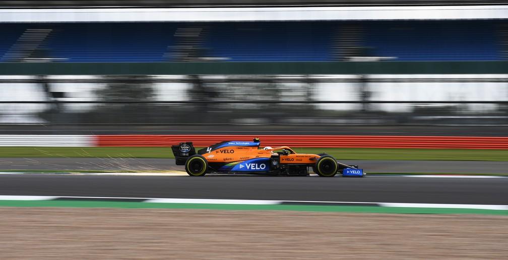 Lando Norris conseguiu uma excelente quinta posição com o carro da McLaren — Foto: Rudy Carezzevoli/Getty Images