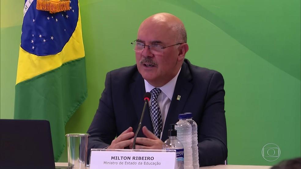 Ministro da Educação, Milton Ribeiro — Foto: JN