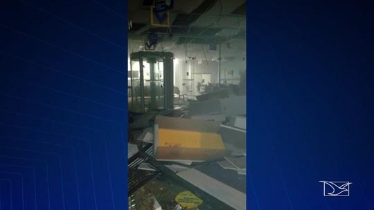 Bandidos explodem agência bancária em Bom Jardim