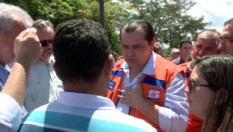 Ministro Pádua Andrade visitou região de barragens com infiltrações no Piauí (Foto: Reprodução/TV Clube)