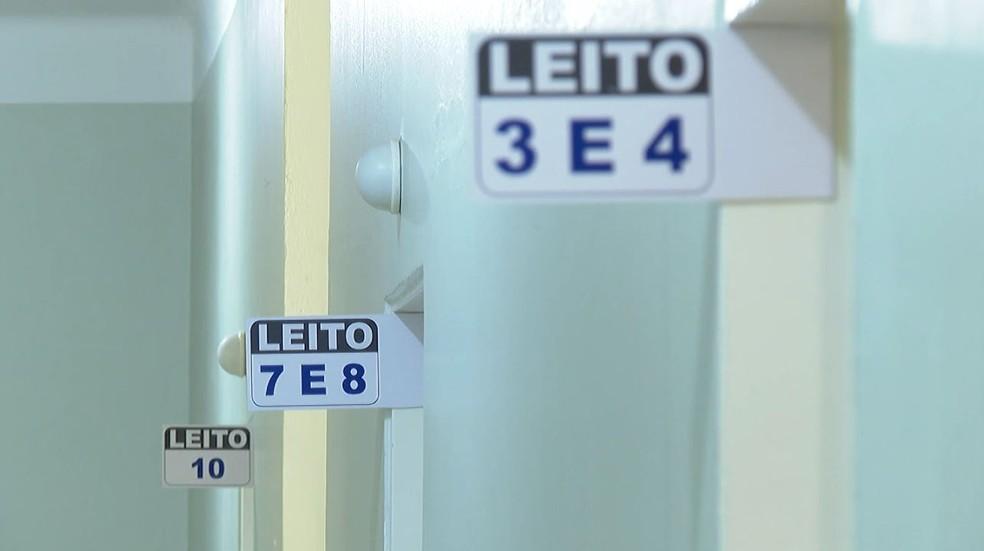 Salas de leitos UTI Covid-19 na Santa Casa de Igarapava, SP — Foto: Jefferson Severiano Neves/EPTV