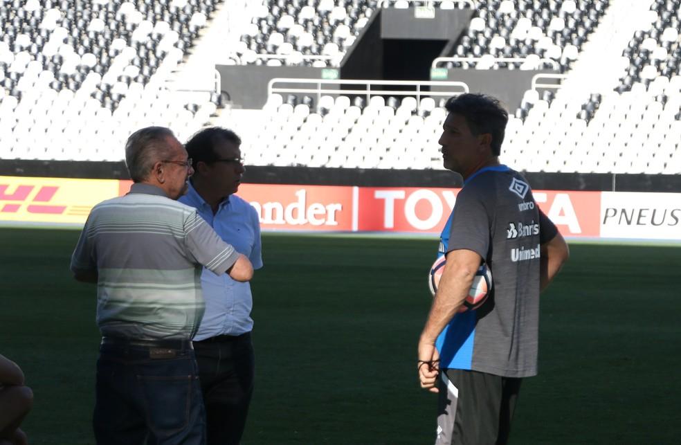 Odorico Roman,  Saul Berdichevski e Renato Gaúcho  (Foto: Eduardo Moura)