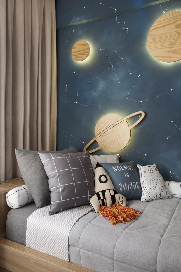 Décor do dia: quarto de irmãos com temática espacial (Foto: Adriana Barbosa)