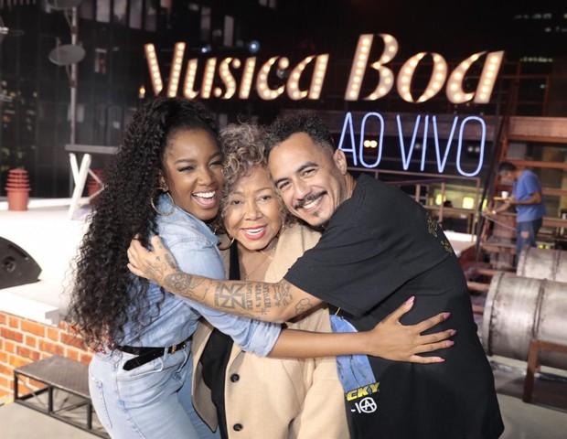 Iza com Alcione e Marcelo D2 (Foto: Juliana Coutinho/ Divulgação Multishow)