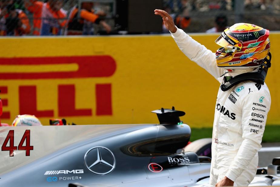 Hamilton domina treino em Spa, faz a 68ª pole na carreira e iguala Schumacher