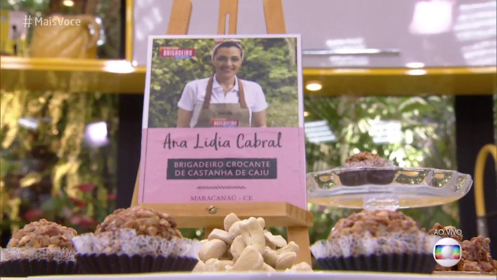 Ana Lídia Cabral venceu o concurso 'Melhor Brigadeiro do Brasil' com o Brigadeiro Crocante de Castanha-de-Caju — Foto: TV Globo