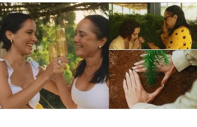 Maytê Piragibe plantou mudas em sua fazenda e fez uma capela com a mãe, a arquiteta Teresa Piragibe: 'Selo orgânico é raro. Nosso país é raro. E nos emocionamos por ter conseguido e por ter feito tudo como queríamos' (Foto: Reprodução/Instagram)