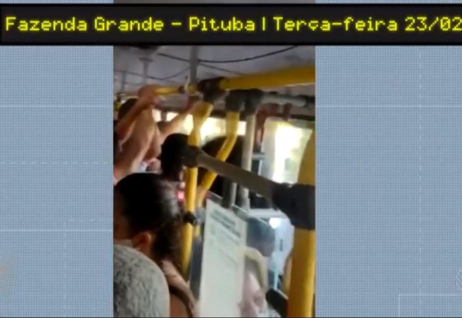 VÍDEO: Passageiros filmam ônibus lotado em Salvador