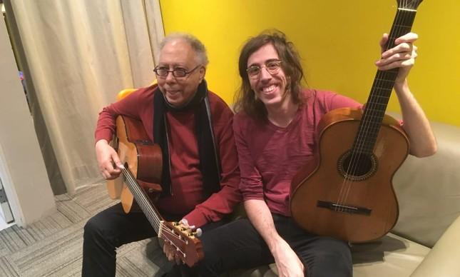 Jards e Tim nos bastidores da gravação