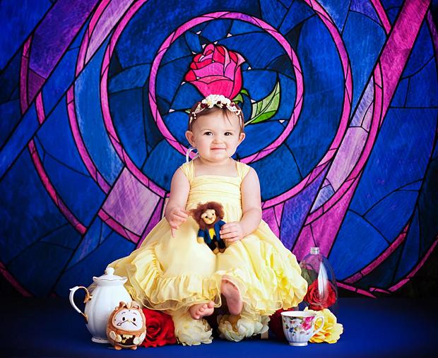 Bela, de a A Bela e A Fera, com 1 ano de idade (Foto: Karen Marie)