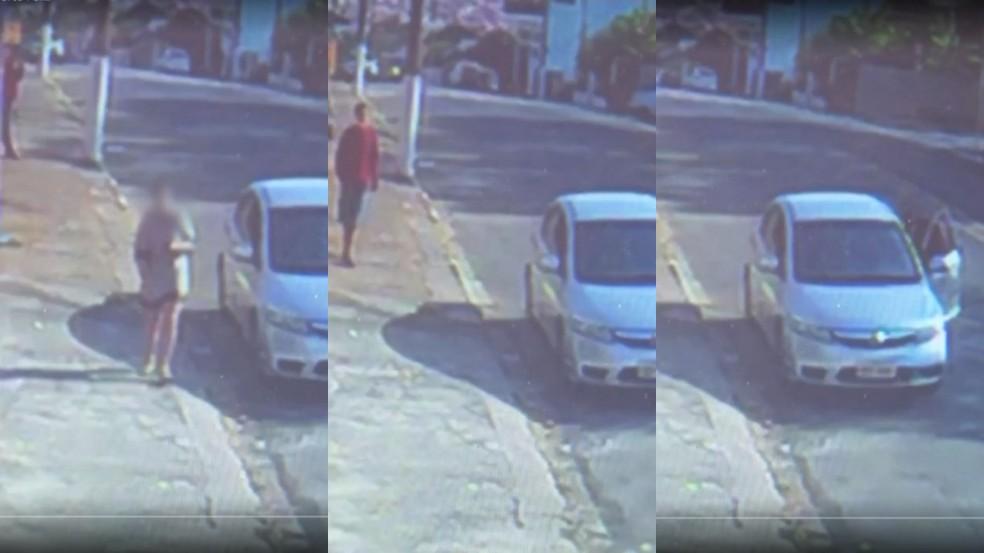 Vídeo mostra homem furtando carro com bebê em Porto Feliz — Foto: Reprodução/TV TEM