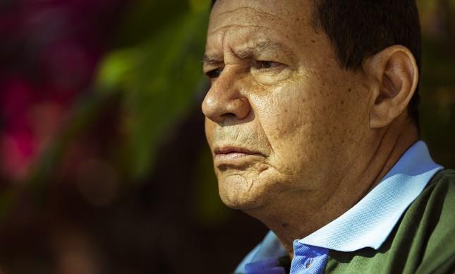 O vice-presidente eleito, general Hamilton Mourão