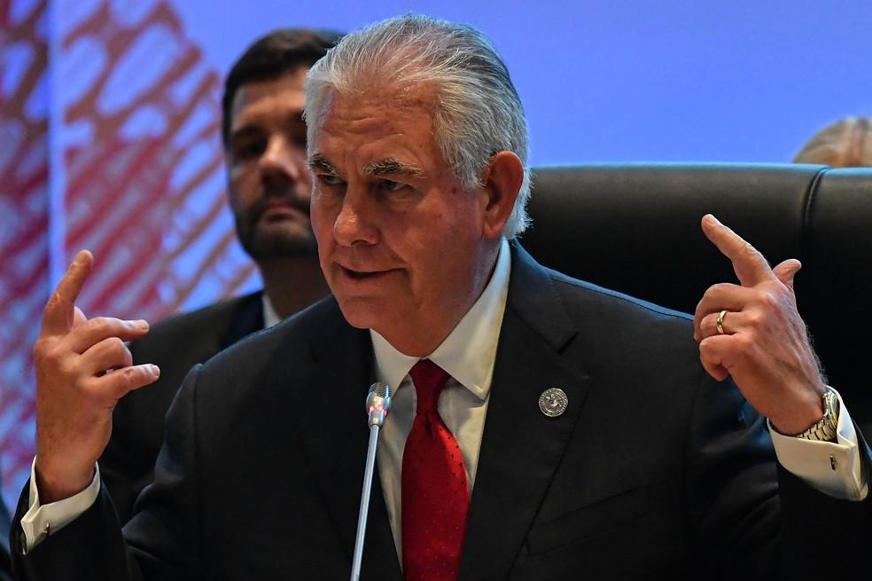 Secretário de Estado dos EUA, Rex Tillerson (Foto: MOHD RASFAN / POOL / AFP)