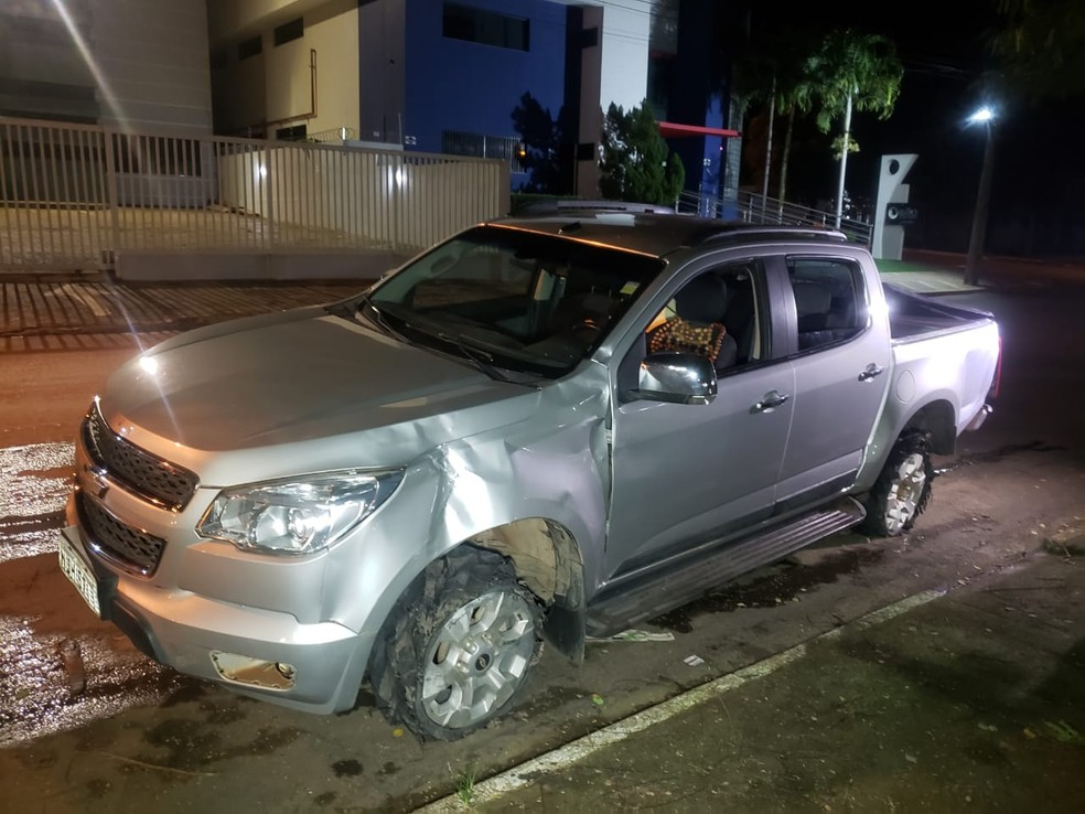 Veículo tinha sido furtado de uma casa — Foto: Marcos Rafael/Arquivo pessoal