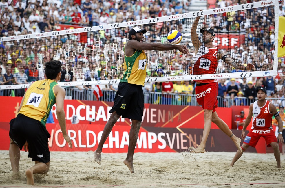 Mundial de vôlei de praia 2018 acontece em Hamburgo, Alemanha — Foto: Divulgação/FIVB