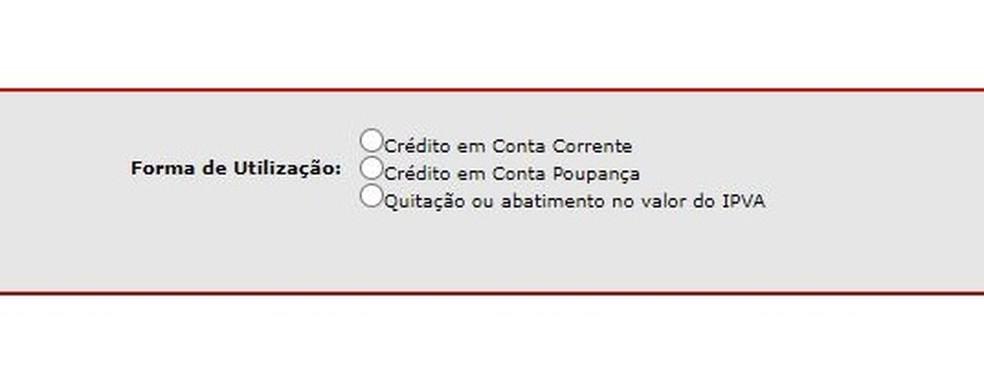 Formas como o usuário pode receber o crédito da Nota Fiscal Paulista — Foto: Reprodução