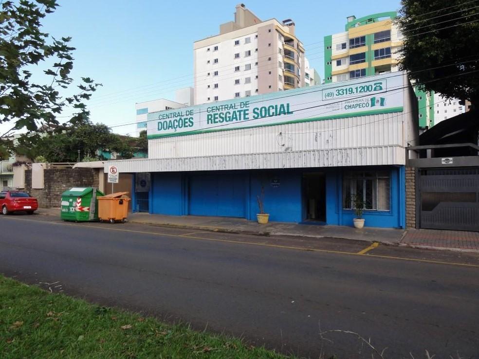 Central de Resgate Social em Chapecó — Foto: Prefeitura de Chapecó/Divulgação